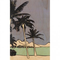 CARTE BOIS palm trees