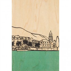 CARTE EN BOIS village by...