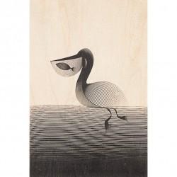 CARTE EN BOIS Pelican