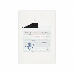 Affiche cachalot Monsieur Papier