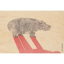 carte en bois woodhi hippo