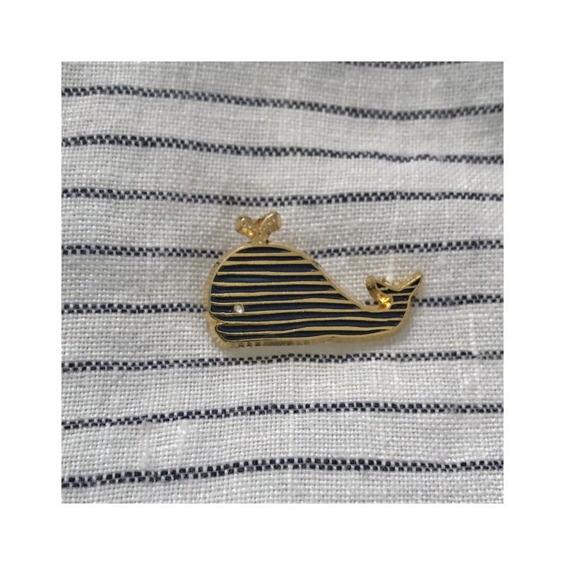 pin's baleine monsieur papier