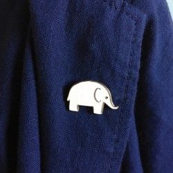 pin's elephanteau Monsieur Papier