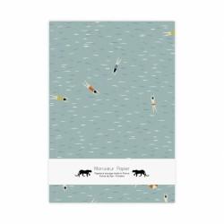 carnet nageurs monsieur papier