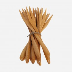 fourchettes en bambou set de 12