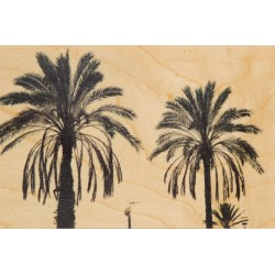 CARTE EN BOIS palm