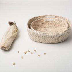 PANIERE en feuille de maïs
